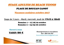 STAGE BEACH TENNIS ADULTES octobre 2017