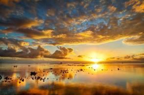 coucher soleil plage