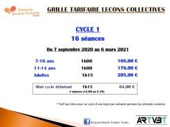 Tarif cycle 1