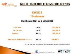 tarif cycle 2